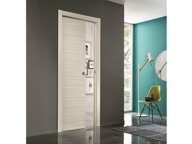 Laminate pocket sliding door COMFORT | Pocket sliding door