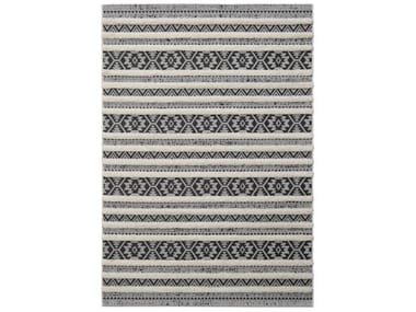 Rectangular striped polypropylene outdoor rugs ESSAOUIRA | Rectangular rug