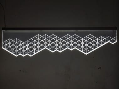 Lampada a sospensione a LED in PMMA ESSENZA 120
