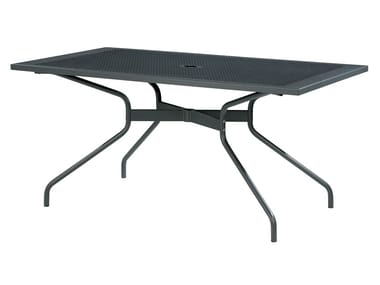 Rectangular galvanized steel table ESTATE | Rectangular table