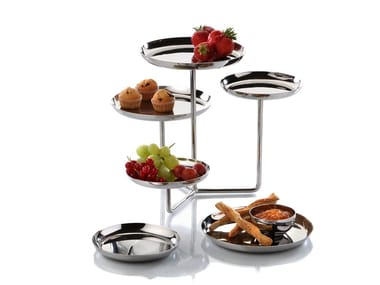 Stainless steel etagere ETAGERE | Tray