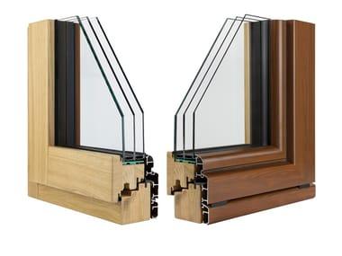 Finestra in alluminio e legno con triplo vetro ETERNITY CLIMA