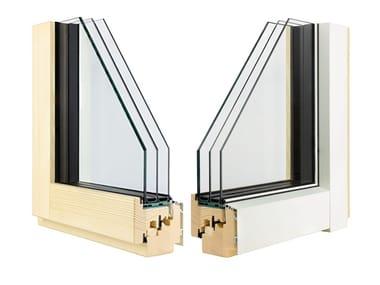 Finestra in alluminio e legno con triplo vetro ETERNITY CLIMA MINIMAL