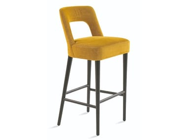 High stool with back with footrest ETHEL   Stool
