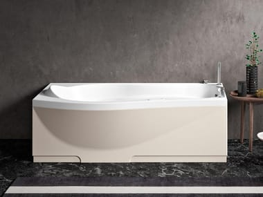 Vasca da bagno con seduta idromassaggio rettangolare ETHOS 170