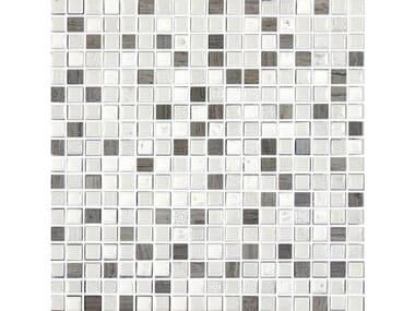 Mosaico in vetro ETNOCHIC | Bianco-Grigio