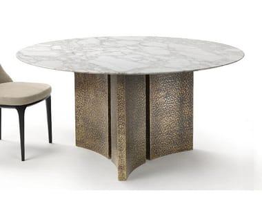 Tavolo da pranzo rotondo in marmo ETOILE | Tavolo in marmo