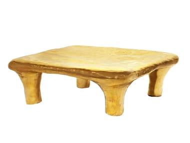 Square brass coffee table EUPHORIA