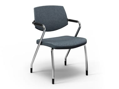 Fabric training chair with armrests EURA CONFERENCE