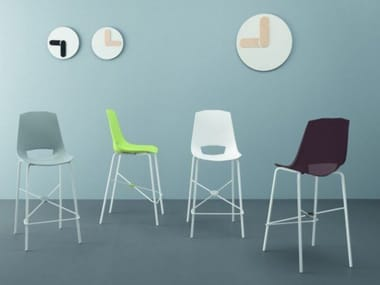 High polypropylene stool with footrest EVA 6 art SD045: TEMA