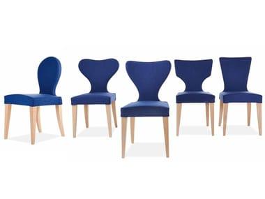 Upholstered fabric chair EVA