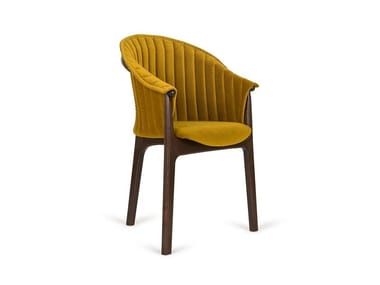 Upholstered beech chair with armrests EVO B-2945