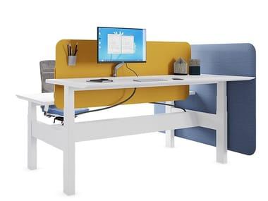 Height-adjustable multiple office workstation EVO HP
