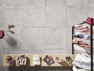 Porcelain stoneware flooring with concrete effect EVOKE