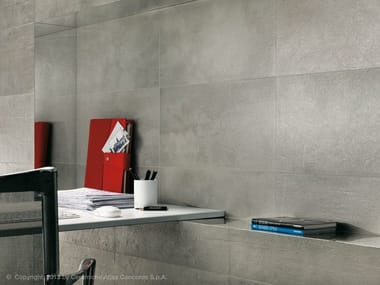 Porcelain stoneware wall tiles with concrete effect EVOLVE | Porcelain stoneware wall tiles