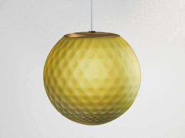 LED blown glass pendant lamp EVY