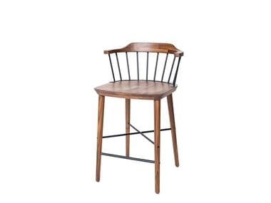 Walnut stool EXCHANGE BAR CHAIR SH610