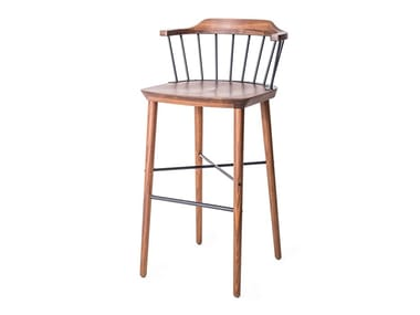 Walnut stool EXCHANGE BAR CHAIR SH750
