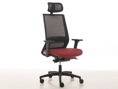 Executive chair with 5-spoke base with headrest LOGICA | Executive chair