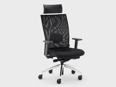 Poltrona ufficio direzionale reclinabile in tessuto con braccioli QUEEN MESH | Poltrona ufficio direzionale