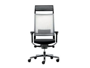 Swivel mesh executive chair with headrest EXPO 15 | Executive chair