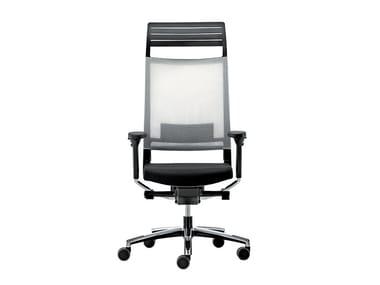 Cadeira executiva giratória de rede com apoio de cabeça EXPO 15 | Cadeira executiva