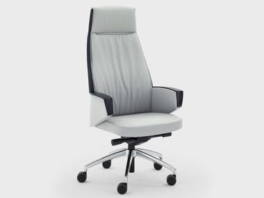 Swivel leather executive chair with armrests GRACE | Executive chair with armrests