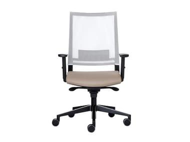 Sedia ufficio girevole in rete con braccioli EXPO LIGHT | Sedia ufficio in rete