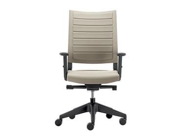Sedia ufficio girevole in tessuto con braccioli EXPO LIGHT | Sedia ufficio con braccioli