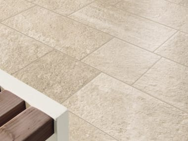 Porcelain stoneware outdoor floor tiles with stone effect EXTERNA SABBIA
