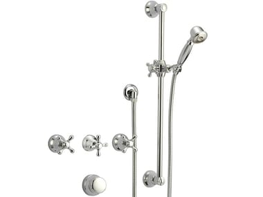 Classic style wall-mounted metal bathtub mixer with diverter with hand shower LIBERTY   Recessed bathtub mixer