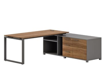 Executive desk with shelves FLOAT OFFICE | Office desk with shelves