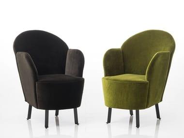 Fabric armchair with armrests FLORET | Fabric armchair
