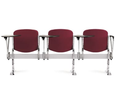 Fabric beam seating with writing tablet with tip-up seats AGORÀ SBR | Fabric beam seating