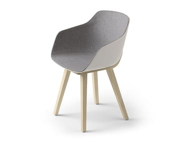 Fabric chair with armrests KUSKOA BI | Fabric chair