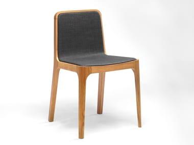 Sedia in rovere e tessuto CAST | Sedia in tessuto
