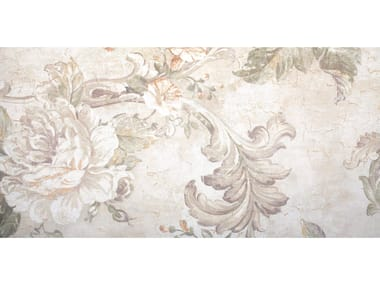 Wallpaper With Floral Pattern FABRIC