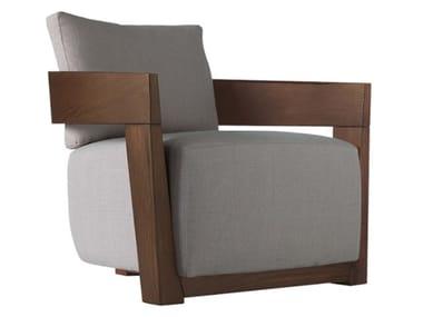Fabric armchair with armrests CINDY | Fabric armchair