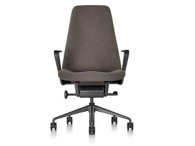 Cadeira executiva giratória de tecido com encosto alto TAPER | Cadeira executiva de tecido