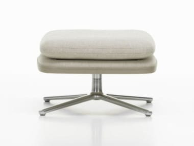 Upholstered fabric footstool with 4-spoke base GRAND RELAX | Fabric footstool