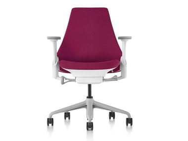 Chaise de bureau pivotante rembourrée en tissu à 5 rayons SAYL   Chaise de bureau en tissu