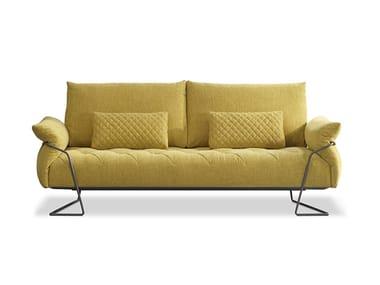 Canapé 3 places en tissu YELLOW | Canapé en tissu