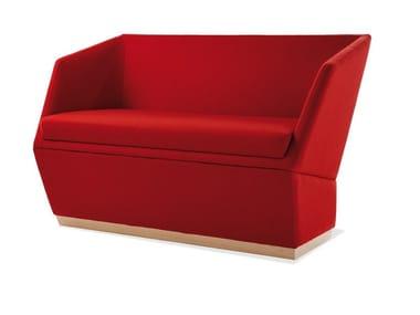 Fabric restaurant booth PALOMA | Fabric small sofa