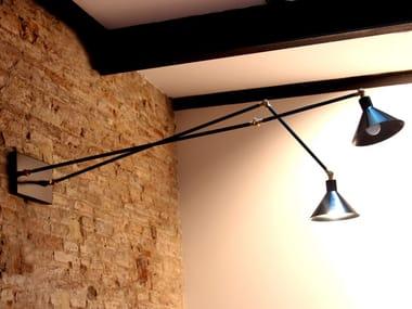 LED handmade adjustable metal wall lamp FACTORY W2 DOBLE