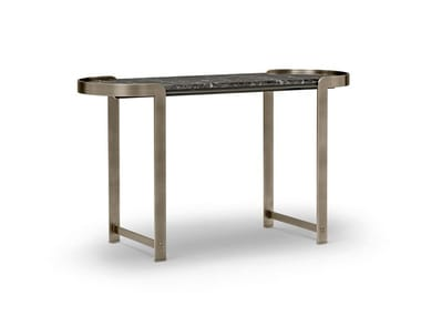 Metal and marble console table FANNY