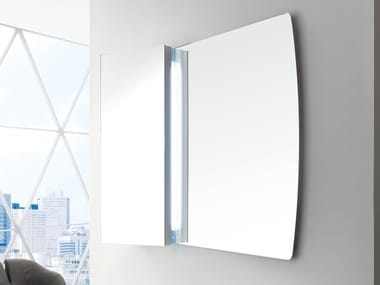 Rectangular wall-mounted bathroom mirror FARFALLA