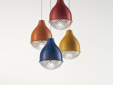 Blown glass pendant lamp FARO