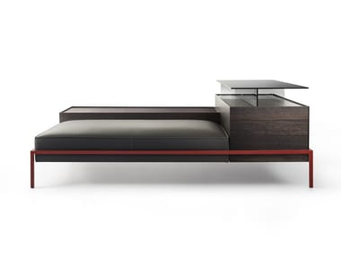 Storage modular leather bench FAROE