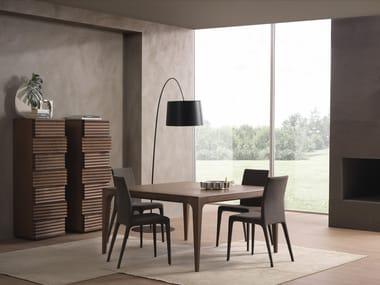 Mesa quadrada de madeira maciça FASHION | Mesa quadrada