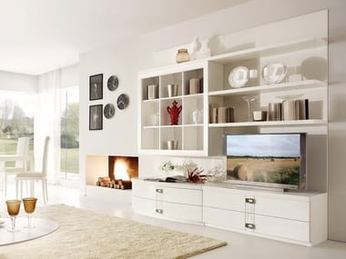 Sectional ash storage wall FASHION TIME | Composizione 4